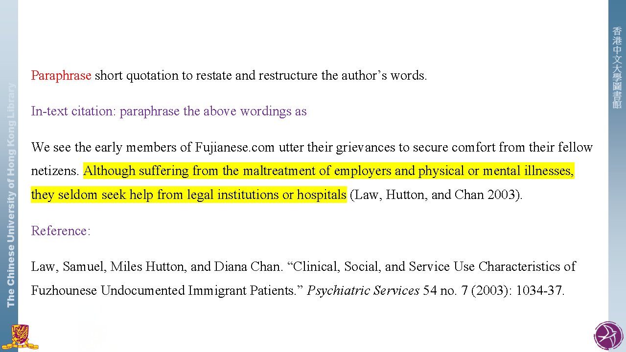 quotation  reference - citation styles
