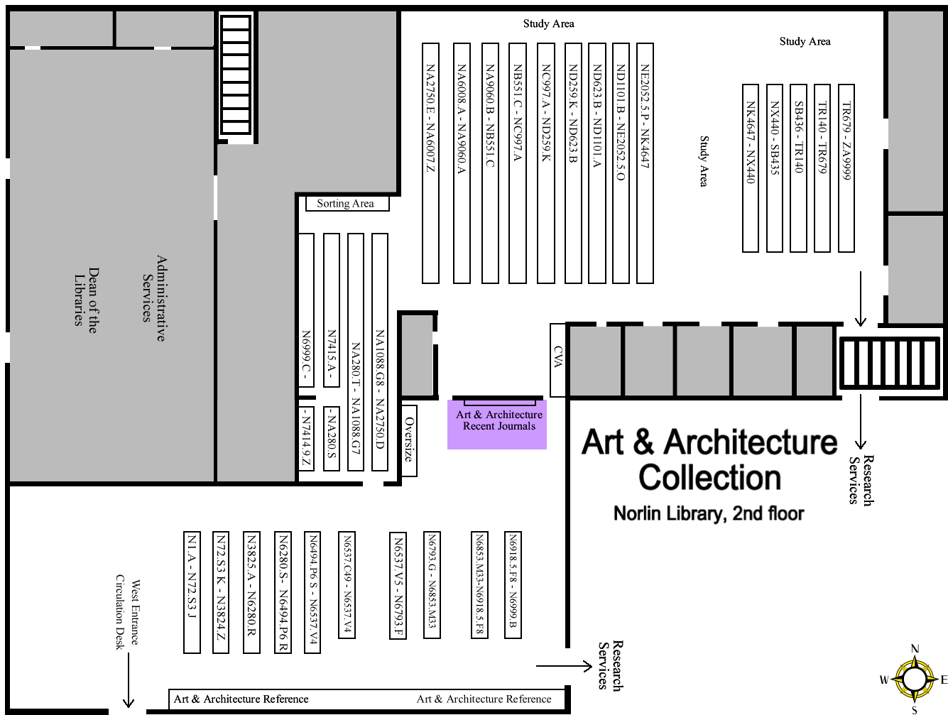 Art & Architecture Periodicals Map