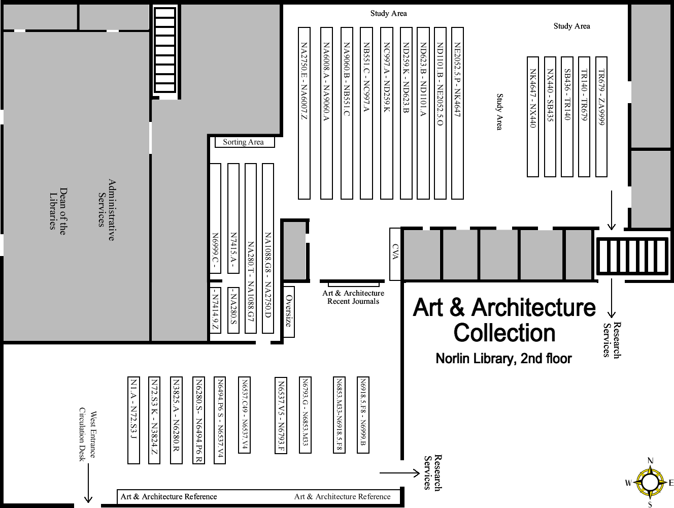 Art & Architecture Stacks Map