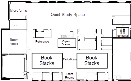 Business Library Lower Level Map