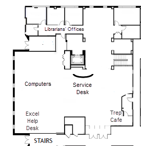 Business Library Floor Map