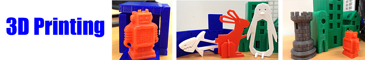 Toy and light switch examples of 3-D printing