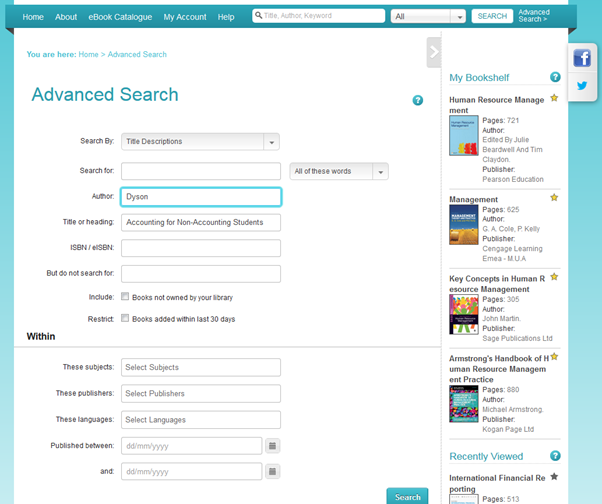 Image of DawsonEra Advanced Search