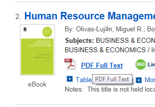Image of EBSCO eBooks PDF Full Text link