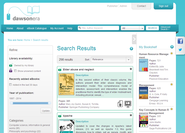 Image of DawsonEra browse page