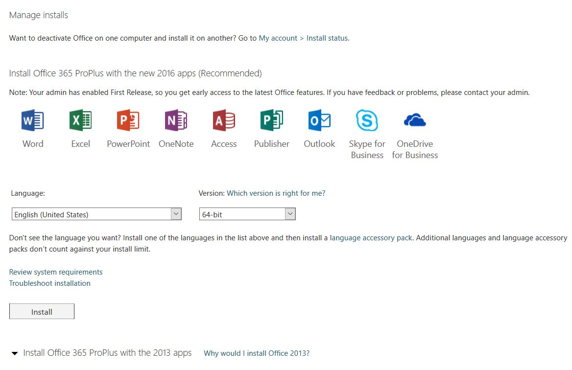 Running windows vista and microsoft office including powerpoint - Install Options Page