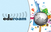Logo links to more info on Eduroam
