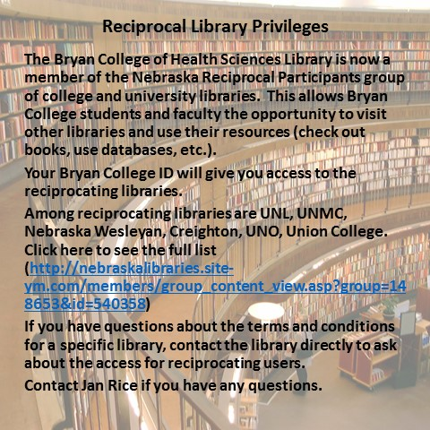 Reciprocal Library Priviledges