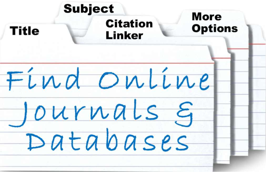 Main Library's Online Journals & Databases search