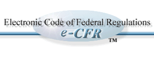 Electronic Code of Federal Regulations logo