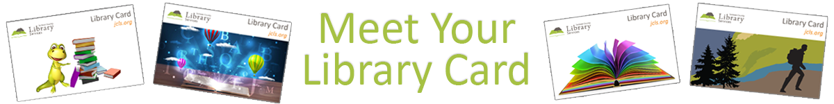Meet your library card banner