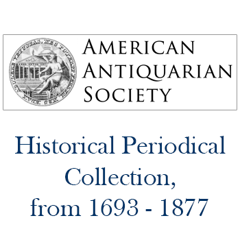 American Antiquarian Society Journals