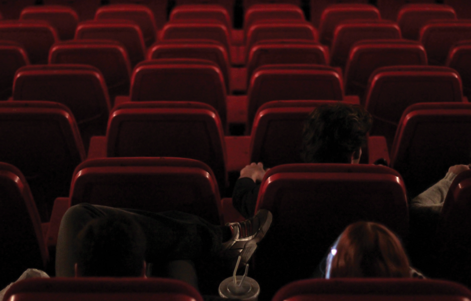 Rows of movie seats
