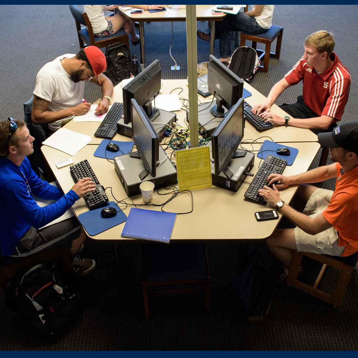 Photo of students at computers on Main Level
