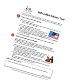 Self-guided library tour worksheet
