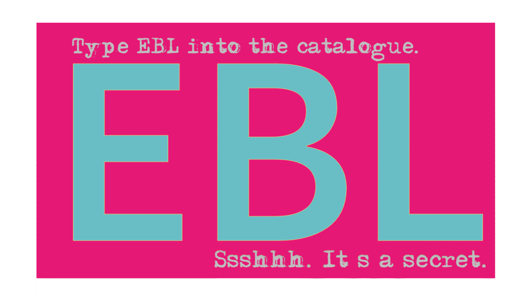 eBooks and lots of them. Try EBL!