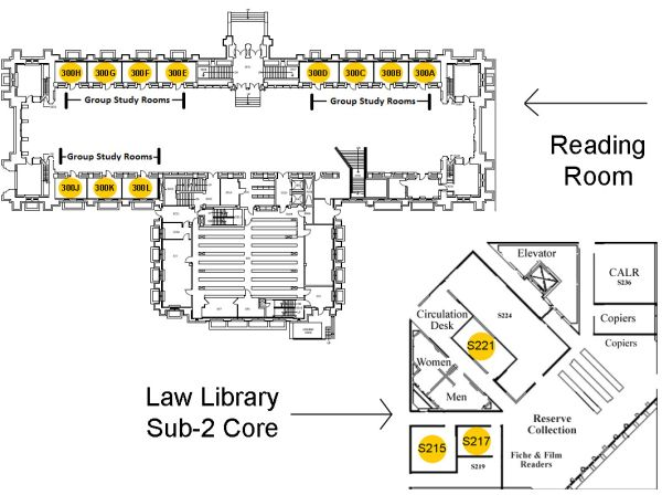Map of Group Study Room locations