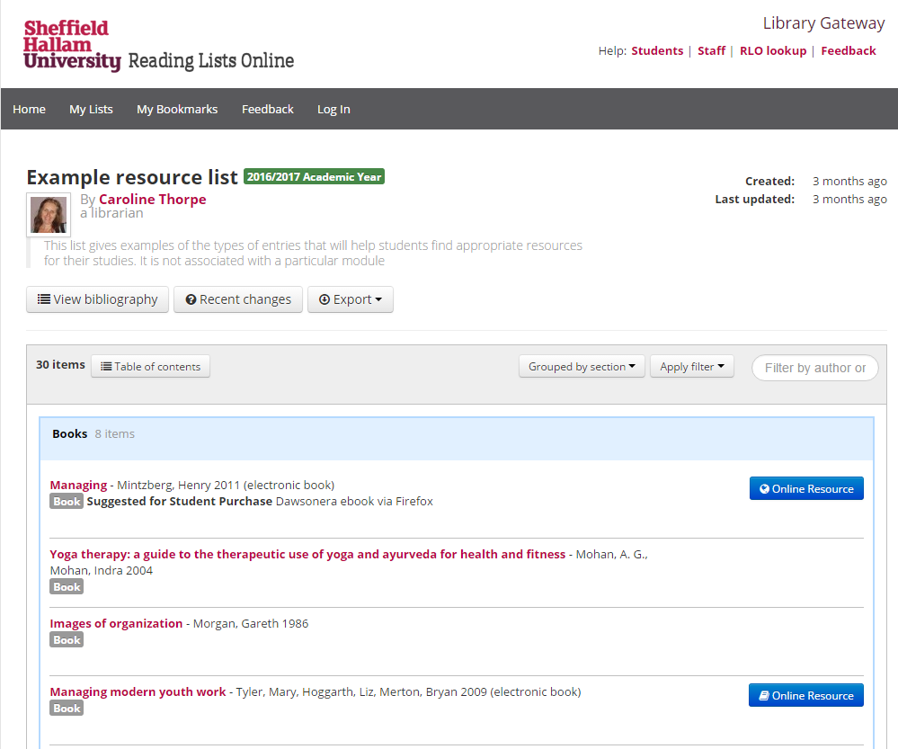 Reading Lists Online - Help pages - LibGuides at Sheffield Hallam ...
