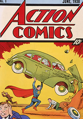 Superman Action Comics cover, issue 1