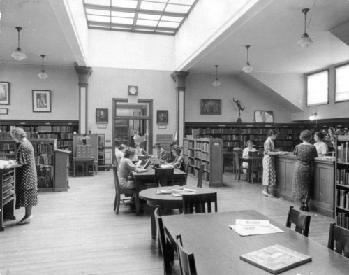 Simmons College library, circa 1930s