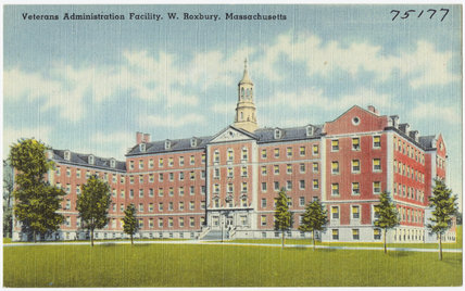 Postcard of Veterans Administration Facility, West Roxbury, Massachusetts