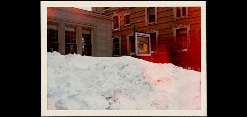 Newton Library after the Blizzard of 1978