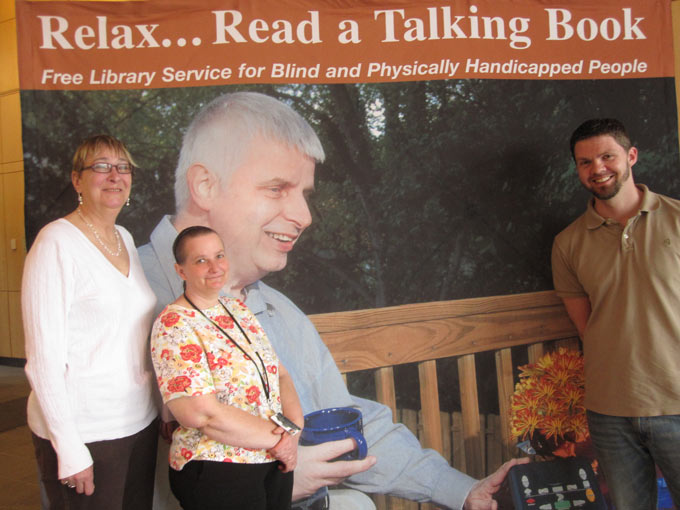 Relax... Read a Talking Book. Free library service for blind and physically handicapped people.