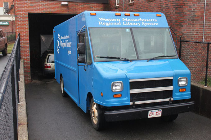 Western Massachusetts Regional Library System book delivery truck