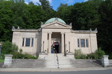 Field Memorial Library in Conway, Massachusetts