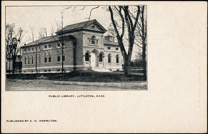 Littleton Public Library postcard