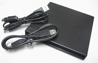USB slim portable optical drive with 2 cables