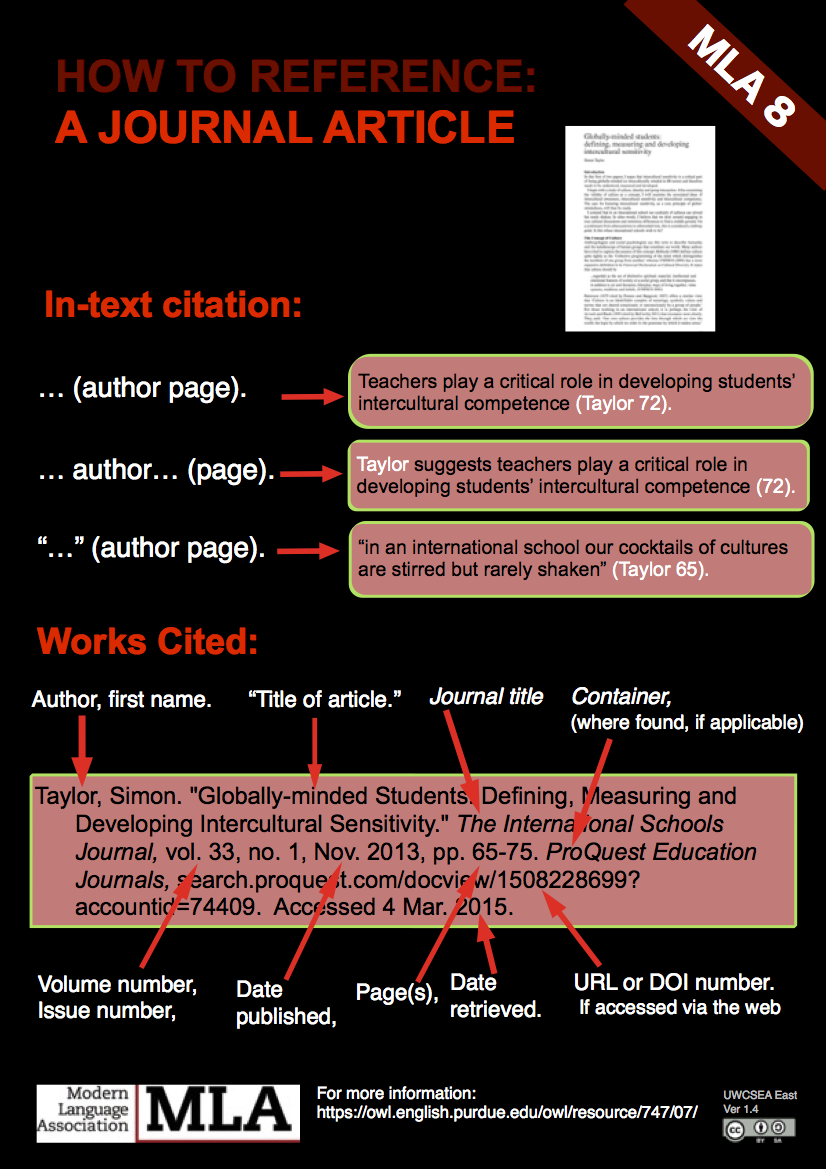 in text citations mla citation