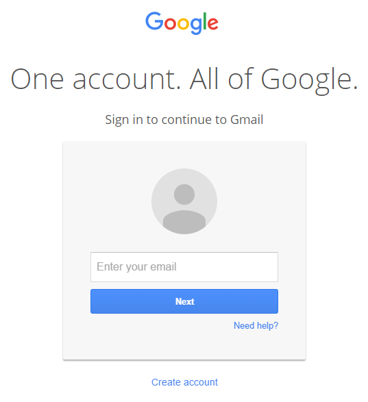 Gmail enter your username