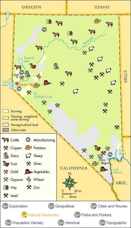 Nevada History Nevada History Databases Hot Topics At Las - Map of nevada with cities