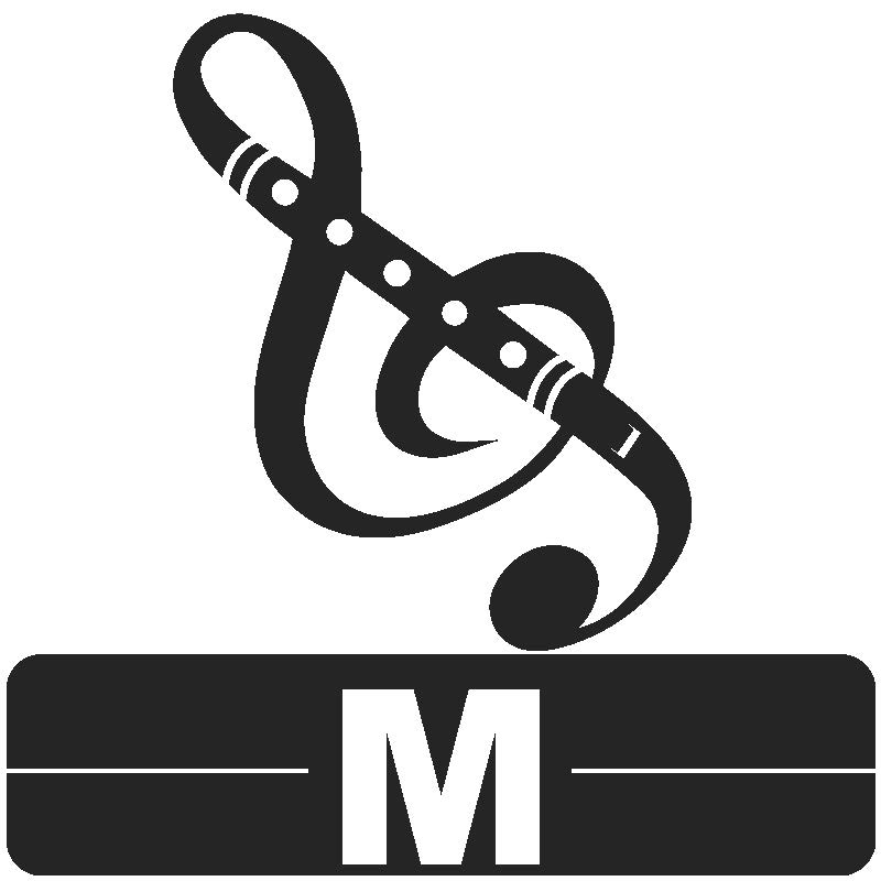 Library Icon M for Music
