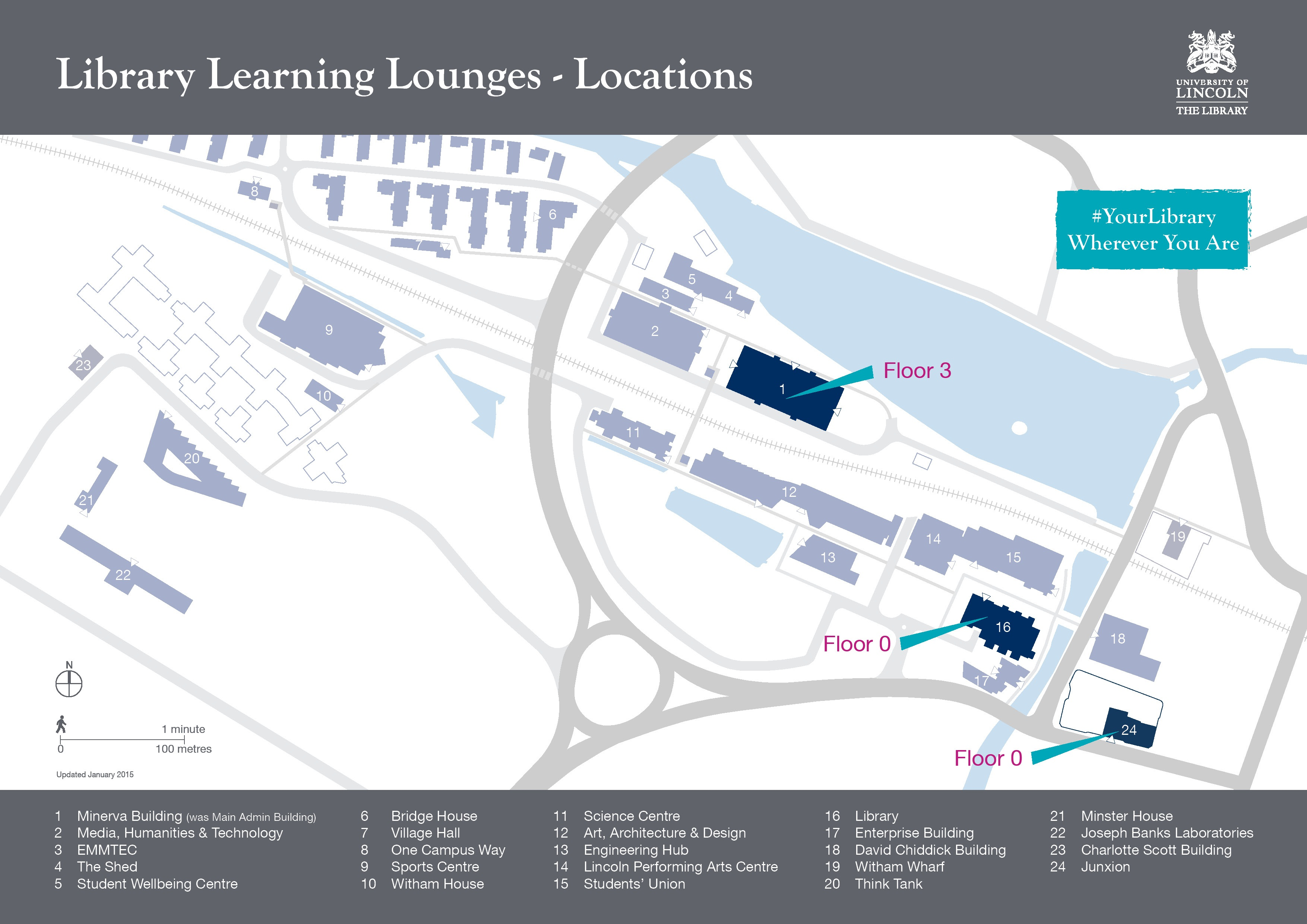 Learning lounges map
