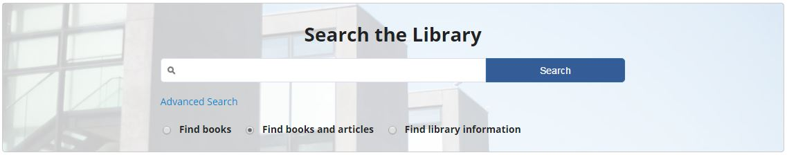 Image of the Library search box