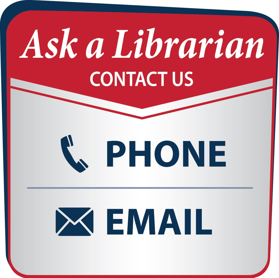 ask a librarian, contact us; phone, email, text
