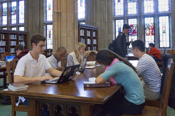 Photo of students studying in Gargan Hall