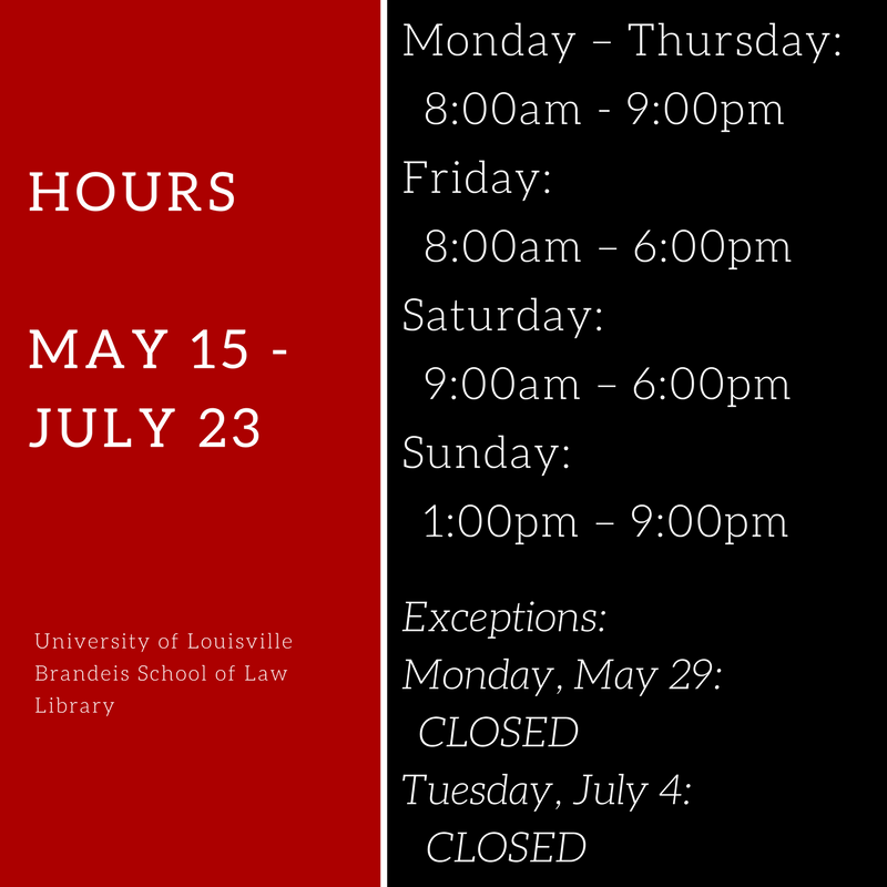 Hours May 15 to July 23