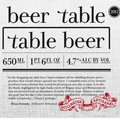 Stillwater Table Beer