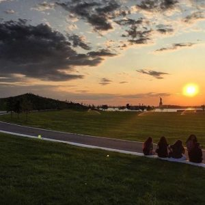 Sunset from Governors Island, Statue of Liberty in the back