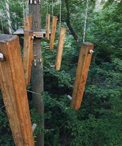 obstacle course at Bronx Zoo Tree Top Adventure!