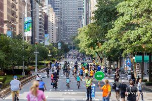 Looking down Park Avenue during Summer Street Festival