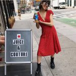 Juice & Couture outside American Two Shot Clothing Store in SOHO