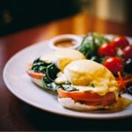 Eggs Benedict at Cupping Room Cafe in SOHO
