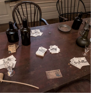 A table in the famous Long Room at Fraunces Tavern is definitely Spooky New York City