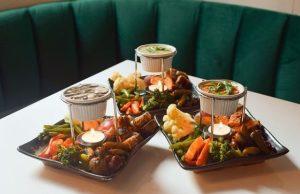 vegan meal and cocktails at Ladybird