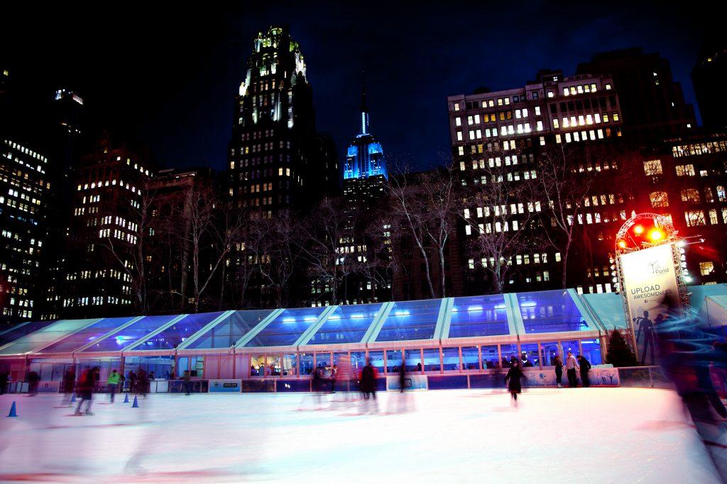Ice Skating Rink Bryant Park New York City