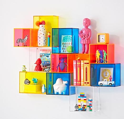 Land Of Nod Lucite Colorful Shelves Shelf